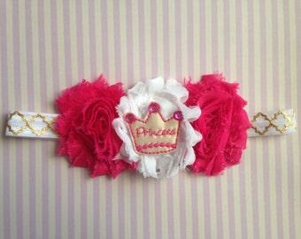 Princess Stretch Headband - Pink and Gold