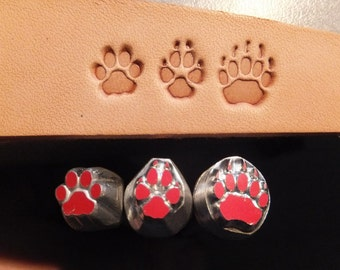 3 pcs Aluminium complet paws 6/16'' Alloy Leather Stamps with own steel handles