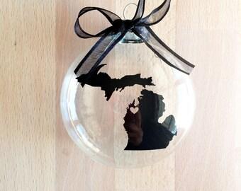 State of Michigan Ornament, Custom, Travel, USA