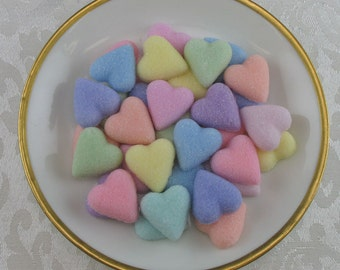 60 Pastel Mix Petite Heart shaped sugar cubes for Valentine's Day, tea party, shower, coffee, tea, party favor, wedding, hostess gift