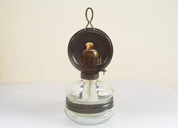 Wall Mounted Oil Lamp With Reflector : Vintage Kerosene Lamp with Reflector Istanbul by Vintassentials