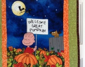 The Great Pumpkin quilted wallhanging