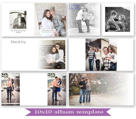 Items Similar To Psd 10X10 Guest Book Album Template - Photoshop
