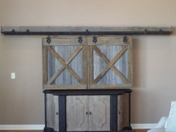 Tv Cover Barn Doors Entertainment Center Cover