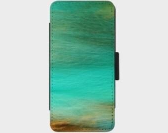 Fantasy Ocean 2 Smartphone Flip Case for iPhone Samsung Sony LG Nexus HTC Photography Fine Art abstract blue green orange art turquoise