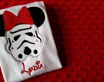 Girls Star Wars Minnie Appliquéd Shirts- Disney Vacation