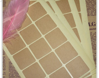 Plain square kraft labels / brown kraft stickers