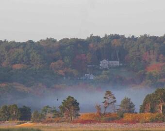 Photo Print - Fog and Foliage, Scituate, MA