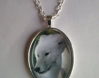 wolf necklace picture pendant necklace
