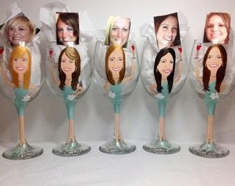 Portrait  Bridesmaid Wine Glass