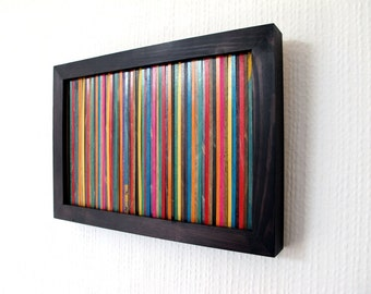 No Rest 4: Table made from recycled skateboards (cut pieces skateboards, frame in wood)