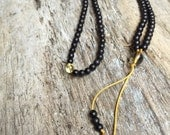 Pocket Mala- citrine, smokey quartz and Bone Buddhist Prayer Beads mini mala B157