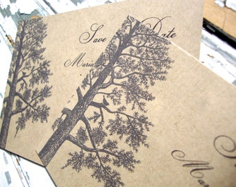 Rustic Save the Date, Fall Wedding Save the Date Postcard, Eco Friendly