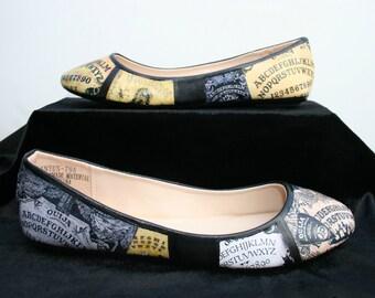 Ouija Board Flats Ouija Shoes Halloween Flats Halloween Shoes Gothic Wedding Shoes Wedding Flats Halloween Wedding Shoes