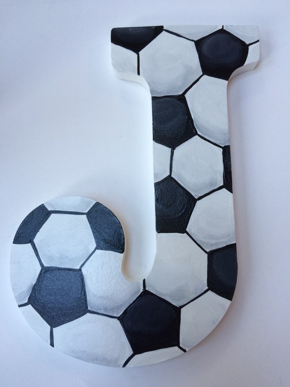 Soccer Room Designs: Sports Hand Paintd Personalized Nursery / Children's