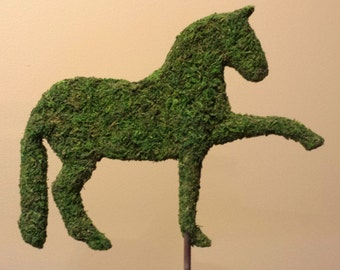 Majestic Dressage Horse Topiary Silhouette