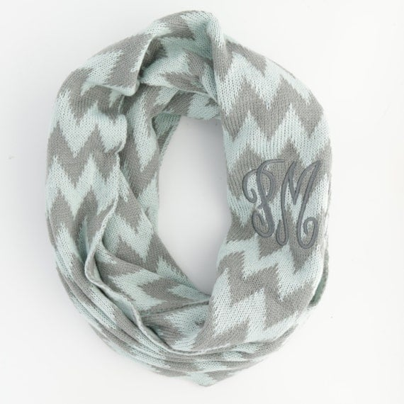NEW Monogram Knit Infinity Scarf - Available in Four Colors!