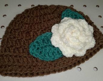 Brown Flower Cloche