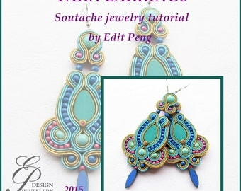 TUTORIAL ONLY! Hand Embroidered Soutache Tutorial, step by step pattern in English