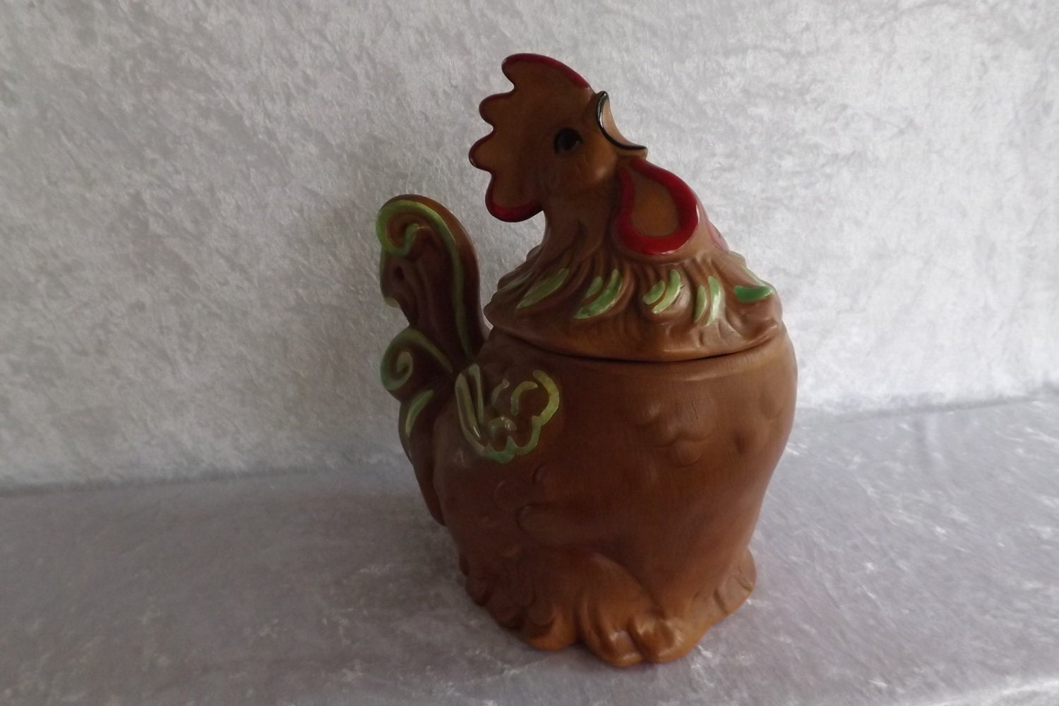 Ceramic rooster cookie jar by jcattictreasures on etsy - Ceramic rooster cookie jar ...