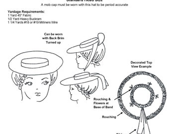Colonial hat etsy for Colonial hat template