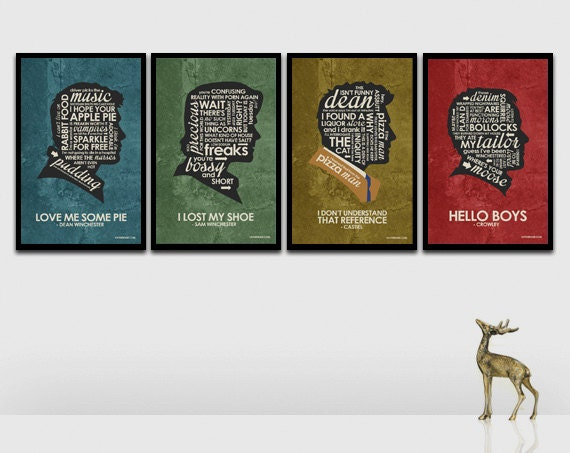 SuperNatural Inspired Quote Poster Set