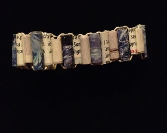 Upcycled Bracelet With Handmade Paper Beads