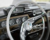 White Gold Studebaker Steering Wheel and Dashboard, Studebaker Wall Print, Vintage Studebaker Print, Classic Car Photo, Vintage Car Photo