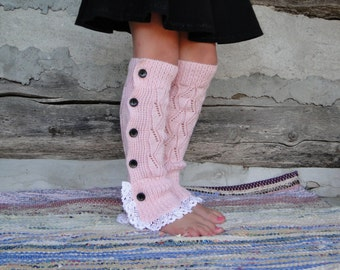Children's Leg Warmers with Buttons