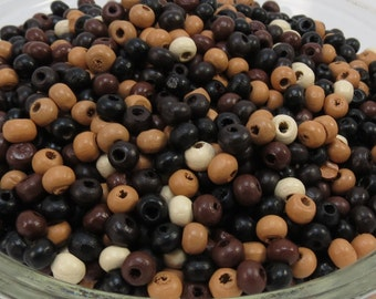 Natural Wood Beads, Mixed color Wooden Beads,5mm Rondelle Wood Beads, Item 383wb