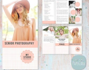 Senior Photography Guide - Trifold Flyer -  DL Size Sell Sheet - PG006 - Instant Download