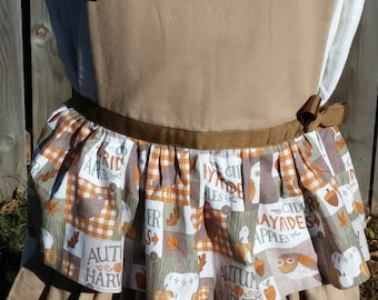 Cozy OOAK Autumn Harvest Apron With Ruffles