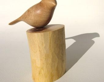 wooden carved bird