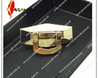 1 sets  golden 55*33mm  hexagon  allpy turn purse bags lock ks-191