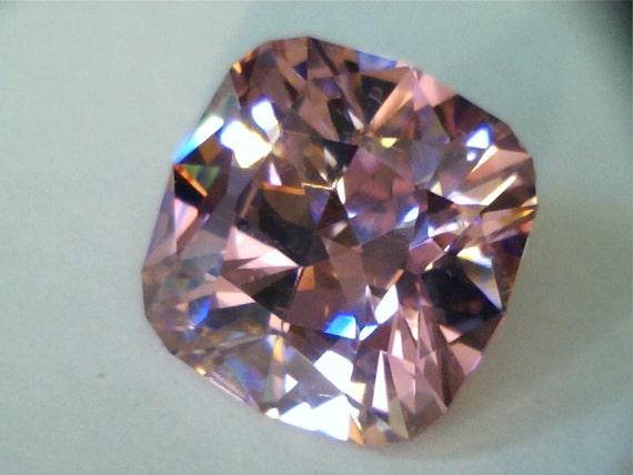 bright pink cz gemstone antique cushion cut 17 97 cts