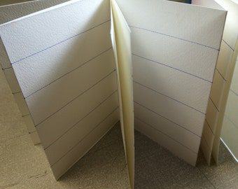Lined concertina journal. A5