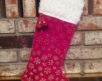 Velvet Snowflake Stocking
