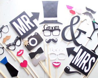 31Pc * Wedding Photo Booth Props/Photobooth Props