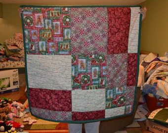 christmas baby quilt