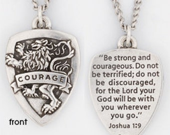 Courage Shield Necklace