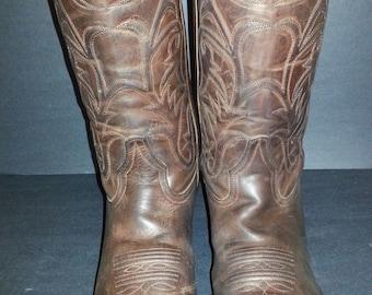 Frye 87694 Bruce Pull On Dark Brown Cowboy Men's Boots Size 9.5