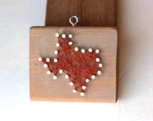 Texas String and Nail Art Rustic Wood Ornament
