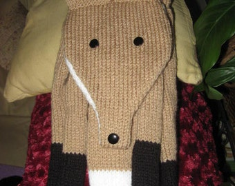 The Quick Brown Knitted Fox Scarf