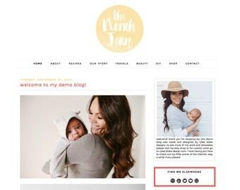 The Norah Jean - Premade Blogger Template