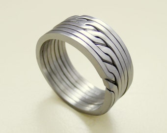ronring 4 unique puzzle rings by puzzleringmaker sterling