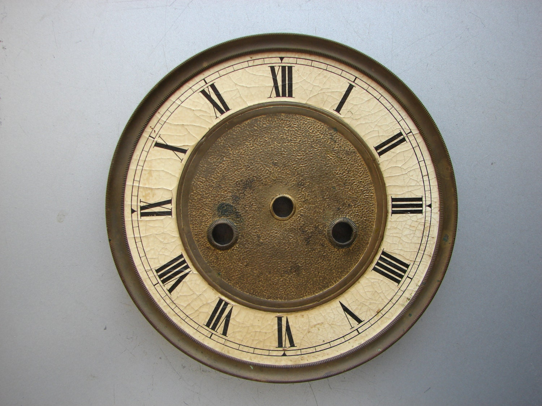 Antique Clock Parts Wall Clock Junghans Gustav Becker Metal