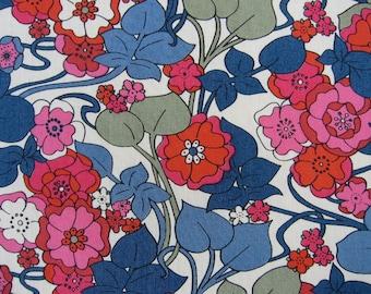 Liberty Tana Lawn, BOXFORD  1m x 136 cms (39 ins x 54 ins) REDS & GREENS, Pinks ect