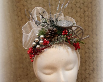 Vintage Party fascinator,Hat,Women hat,Free shipping