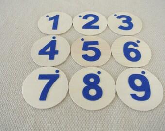 Montessori Felt Number Wood Boards