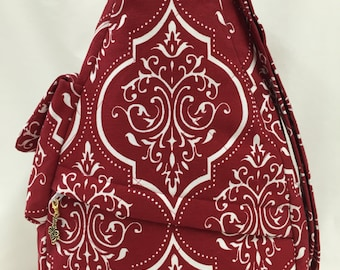 Red and White Shoulder Bag